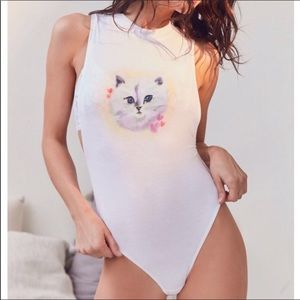 Out From Under | Airbrushed Cat Bodysuit